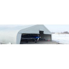 Тентовый ангар для самолета (авиационный ангар)