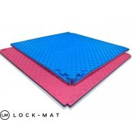 """Спортивные маты татами """"ласточкин хвост"""" 40 мм, плотность 120 кг/м.куб красно- синие"""