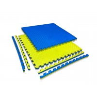 "Маты татами ""ласточкин хвост"" 40 мм, плотность 120 кг/м.куб желто- синий"