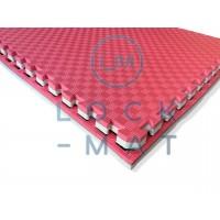 """Мат татами """"ласточкин хвост"""" 40 мм, плотность 120 кг/м.куб красно- белый"""
