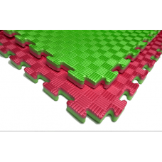 "Мат татами ""ласточкин хвост"" 26 мм, 120 кг/м.куб, красно- зеленый"