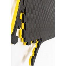 "Мат татами ""ласточкин хвост"" 26 мм, 120 кг/м.куб, желто- черный"