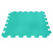 Детский коврик - пазл 50см х 50см , толщина 1 см, с бортиком, бирюзовый