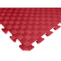 Татами ласточкин хвост (коврик пазл) 1м х 1м , толщина 10 мм красный