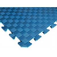 Татами ласточкин хвост (коврик пазл) 1м х 1м , толщина 10 мм синий