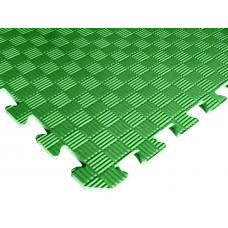 Татами ласточкин хвост (коврик пазл) 1м х 1м , толщина 10 мм зеленый