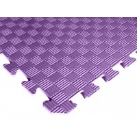 Татами ласточкин хвост (коврик пазл) 1м х 1м , толщина 10 мм фиолетовый
