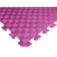 Татами ласточкин хвост (коврик пазл) 1м х 1м , толщина 10 мм розовый