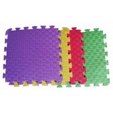 Детский коврик - пазл 30см х 30см , толщина 1 см, желтый