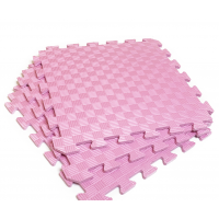 Детский коврик - пазл 30см х 30см , толщина 1 см, розовый