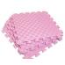 Детский коврик - пазл 50см х 50см , толщина 1 см, с бортиком, розовый