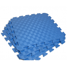 Детский коврик - пазл 30см х 30см , толщина 1 см, синий