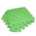 Детский коврик - пазл 50см х 50см , толщина 1 см, с бортиком, зеленый