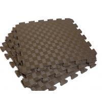 Детский коврик - пазл 50см х 50см , толщина 1 см, с бортиком, шоколадный