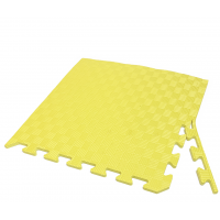 Татами ласточкин хвост (коврик пазл) 1м х 1м , толщина 10 мм желтый