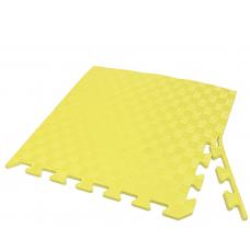 Детский коврик - пазл 50см х 50см , толщина 1 см, с бортиком, желтый