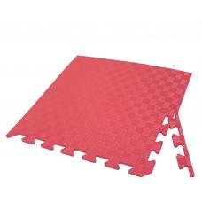 Детский коврик - пазл 50см х 50см , толщина 1 см, с бортиком красный