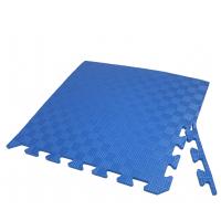 Детский коврик - пазл 50см х 50см , толщина 1 см, с бортиком, синий