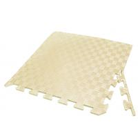 Детский коврик - пазл 50см х 50см , толщина 1 см, с бортиком, бежевый