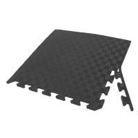 Татами ласточкин хвост (коврик пазл) 1м х 1м , толщина 10 мм черный