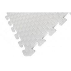 Татами ласточкин хвост (коврик пазл) 1м х 1м , толщина 10 мм белый