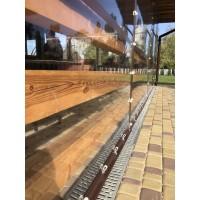 Мягкие окна ПВХ , крепление на люверсы с ремешками
