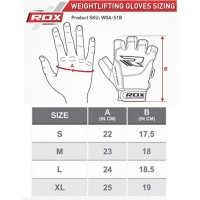 Перчатки для фитнеса RDX Amara S