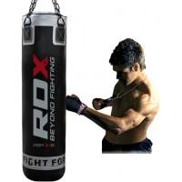 Боксерский мешок RDX Leather Black 1.5 м, 45-55 кг